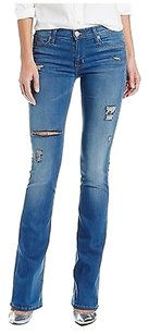 Hudson Love Foxey Distress Boot Cut Jeans