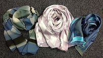 Boutique Lot Of Assorted Multicolored Rectangular Silk Blend Scarves B3275