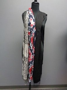 Other Boutique Lot Of Black White Blue Red Fashion Scarves B240