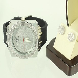 Box Cut Diamond Bezel Kc Box Cut Watch Cylinder Gold Finish Over Silver Earring
