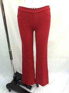 Brasilsul Red Two Back Pocket Skull Detail Stretch Yoga Pants