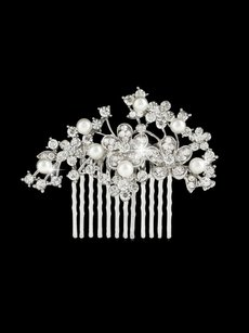 Bridal Haircomb Hair Comb Rhinestones And Pearls