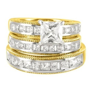 Bride Groom Vintage Style Lab Diamond Pc Cocktail Wedding Bands In Silver Sale