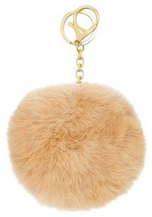 Brown Pom Pom Rabbit Fur Bag/Purse Charm Key Chain