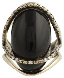 Brumani Nude Casual Collection Onyx Diamond Ring - 18k White Gold .22ctw