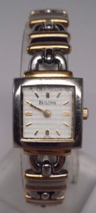 Other Bulova Ladies Silver And Gold Lock Design Links