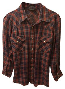 Button Down Shirt Red, Navy
