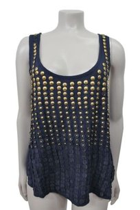 Patterson Gromet Sleeveless Top Navy