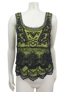 Staring At Stars Crochet Neon Top yellow black