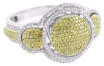 Other Canary Diamond Wedding Ring Bridal Engagement Ladies Sterling Silver Designer