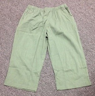 Other D And Co Denim And Company Elastic Waist Capris 3469 A Capri/Cropped Pants Green