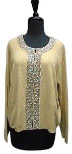 Other E Vie Long Sleeved Hook And Eye Embellished Neck Cardigan 2895a Sweater