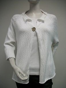 Other Loose One Button Cardigan Cotton Blend Raglan L509 Sweater