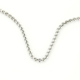 Cartier 18k White Gold Cable Chain Necklace 16.5 Long