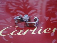 Cartier 18kt Love Diamond Earrings 6-diamond Wg