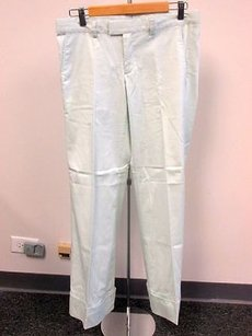 Other Pegah Anvarian Pale Flat Zip Front Cuffed Hem Solid G044 Pants