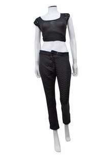 Other Elin Kling For Marciano Chevron Texture Ankle Zip Skinny Pants