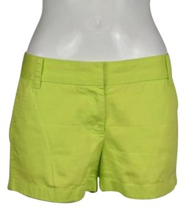 Other J Crew Chino Womens Casual Cropped Trousers Shorts Neon Green