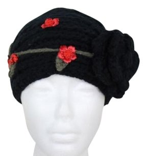 Cheveux Womens Black Floral Head Wrap One Acrylic