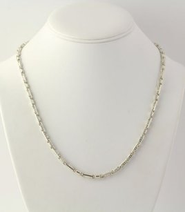 Chunky Link Statement Necklace - 925 Sterling Silver Chain Womens Fine Estate