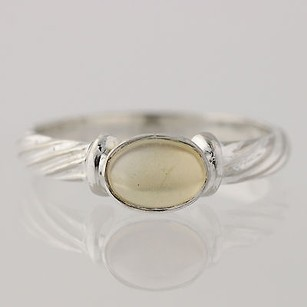 Citrine Solitaire Ring - Sterling Silver 925 6.75-7 Oval 0.85ct Gemstone