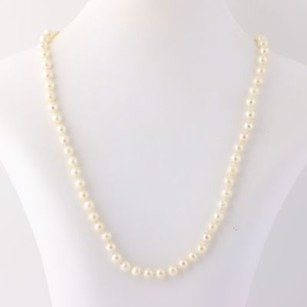 Other Classic Cultured Pearl Necklace 19 14 - 14k Yellow Gold Knotted Strand June