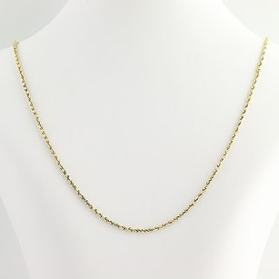Classic Rope Chain Necklace 12 - 14k Yellow Gold Lobster Claw Clasp
