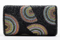 Ash Amaira Black Rainbow Multi-Color Clutch