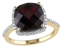 4.854 Ct Tw Diamond And Garnet Fashion Ring 10k Yellow Gold Gh I2i3