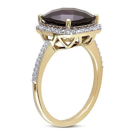 Other 4.854 Ct Tw Diamond And Garnet Fashion Ring 10k Yellow Gold Gh I2i3