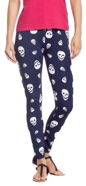 Other Stretch Comfy breathable SKULLS BLACK WHITE Leggings