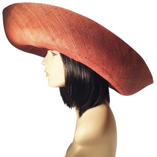 Copper Brown Straw Picture Hat; Spring Summer [ HeavenlyHats ]
