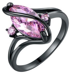 Other Created Pink Topaz Ring