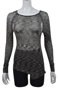 Joan Vass Studio Womens Black Sweater