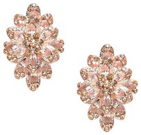 Other Crystal rhinestone flower clip on earrings