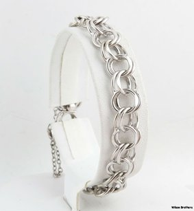 Curb Chain Bracelet - Sterling Silver 925 7.25 Womens Fashion Charm Starter