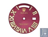 Custom Pave Set Diamond Red Dial For Rolex Day Date 1 41mm Watch 0.75 Ct