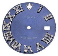 Custom Pave Set Diamond Royal Blue Dial For Rolex Datejust 41mm Watch 0.75 Ct