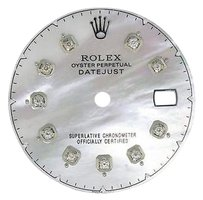 Custom Pave Set White Mop Diamond Dial For Rolex Datejust 36mm Non Quick Watch