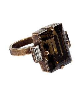 Other Dannijo Cato Ring In Bronze Clear Square Brass Ring