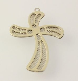 Decorative Cross Pendant - Sterling Silver Gold Filled Religious Christian Charm