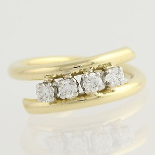 Other Diamond Bypass Ring - 18k Yellow White Gold Four-stone 34 Fine .40ctw
