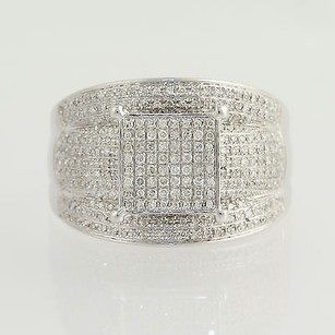 Diamond Cocktail Ring - 14k White Gold 14 Womens 1.00ctw
