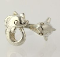 Dolphin Ring - Sterling Silver 925 Womens Adjustable Beach Fashion