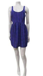 Other short dress Blue Urban Outfitters Striped Tiny Star Print on Tradesy