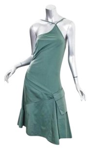 Other short dress Green Royal Dye European Culture Womens Cotton Sleeveless Knee on Tradesy