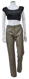 Other Lola In Stone Khaki Linen Blend Flat Front Career Pants