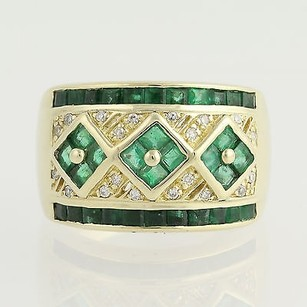 Other Emerald Diamond Ring - 14k Yellow Gold May Birthstone 2.14ctw