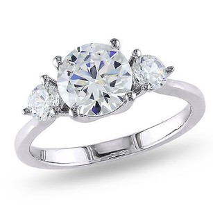 4.33 Ct Tgw White Cubic Zirconia Engagement Ring Silver