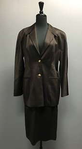 Escada Exclusive For Neiman Marcus Brown Blazer And Skirt 2369